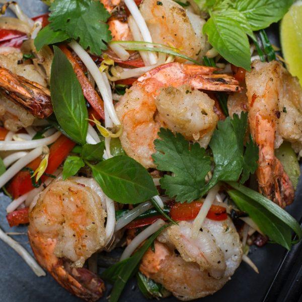 Plat de crevettes du restaurent Hà | Crédit Photo - Patricia Brochu