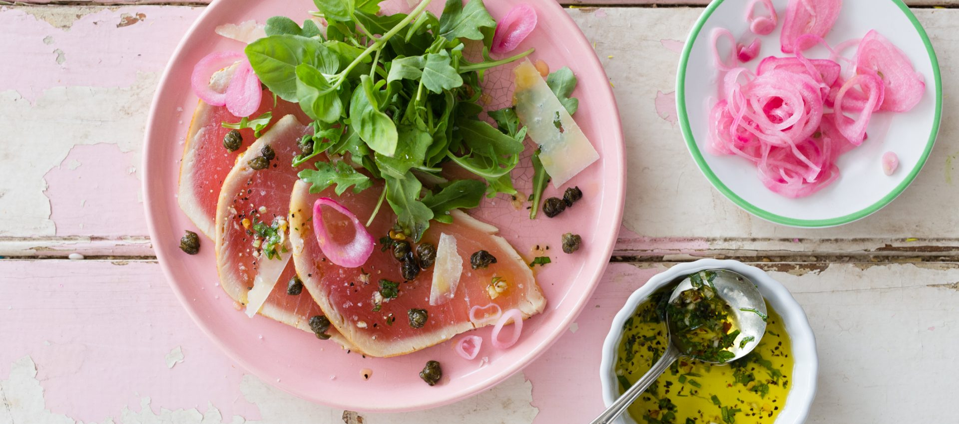 _Photo recette carpaccio thon