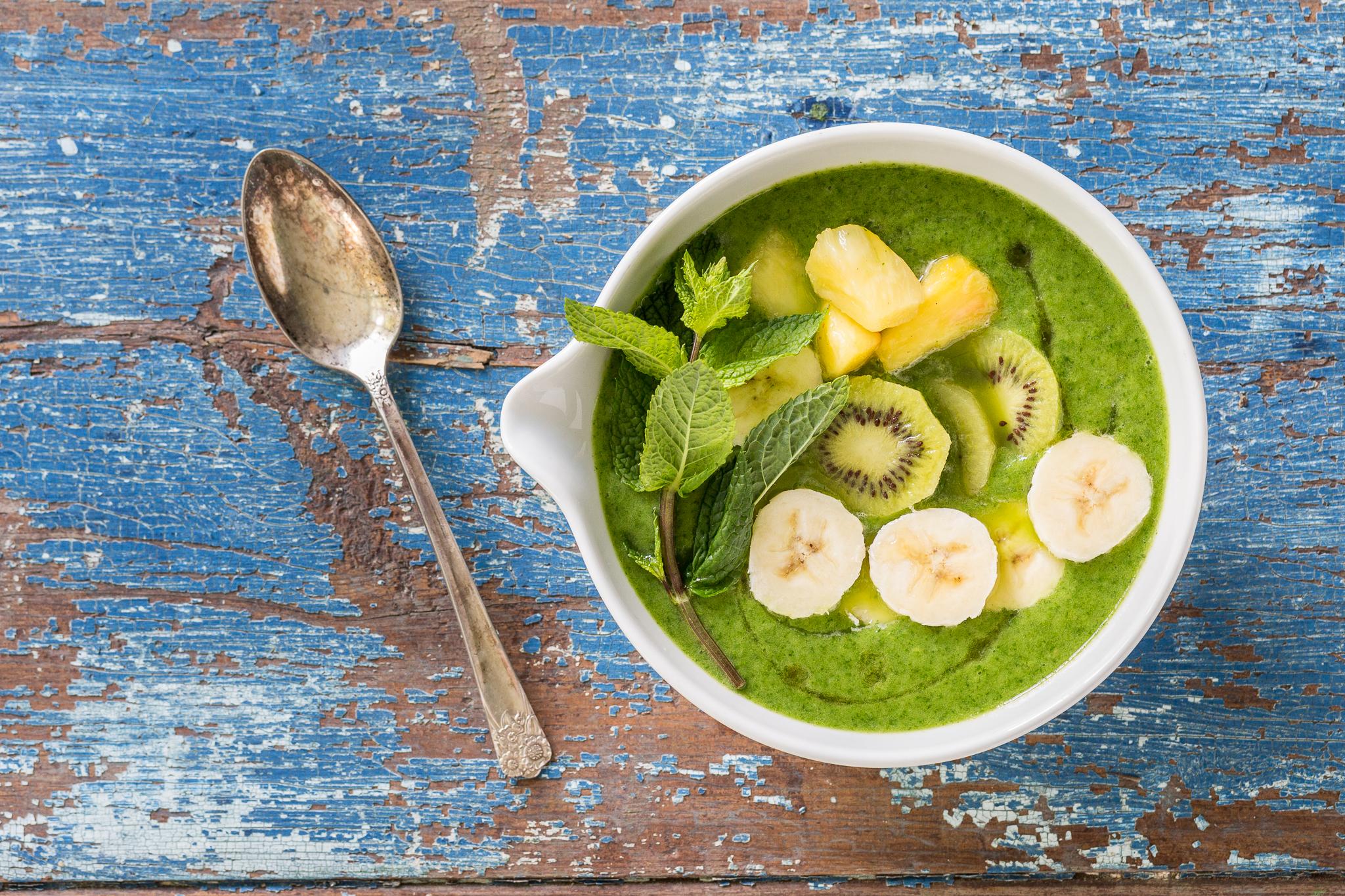 _Photo recette bol de smoothie vert dynamisant