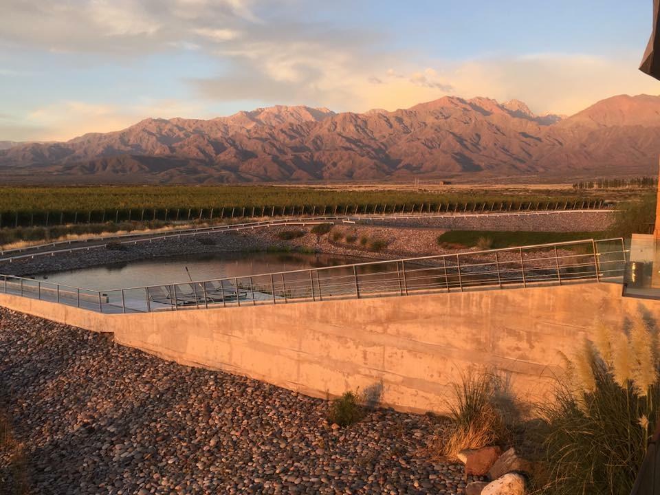 Bassin d'irrigation dans la Vallee de Uco.