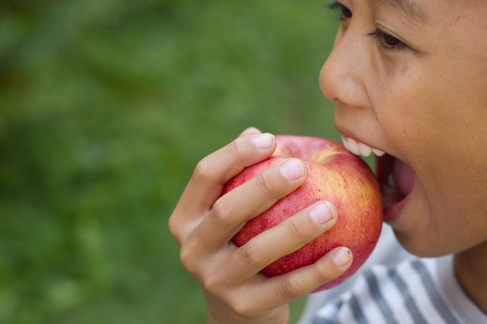_Photo enfant mangeant un epomme