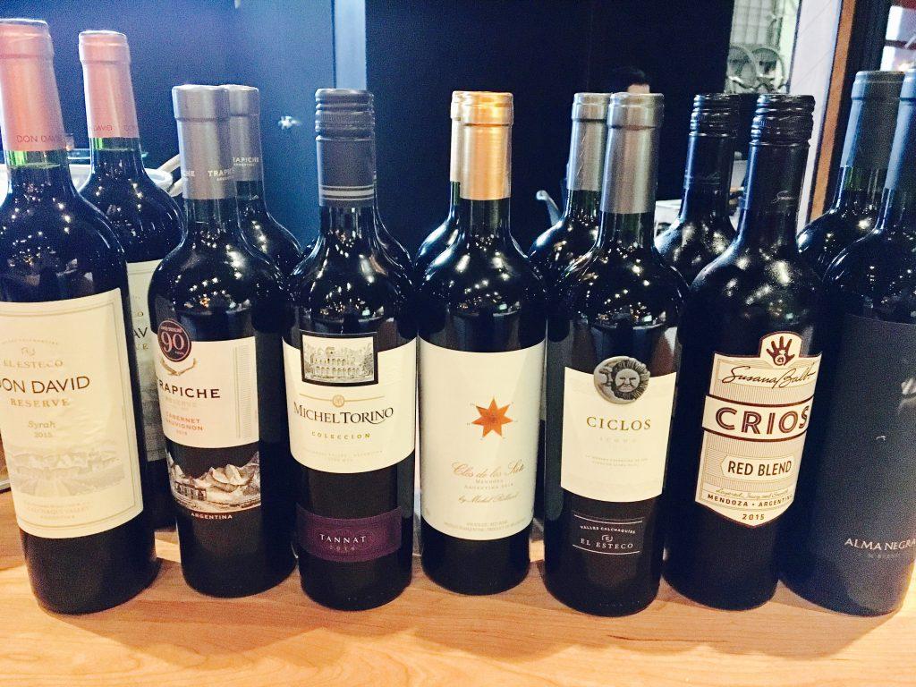 _photo plusieurs vins argentins