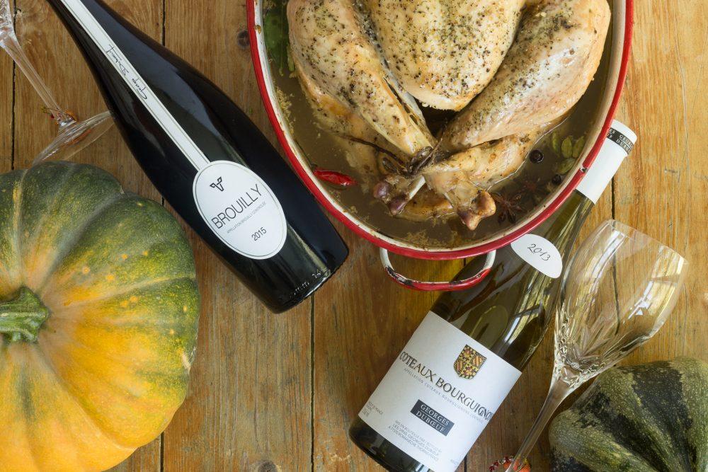 _Photo dinde dans bouillon et vins