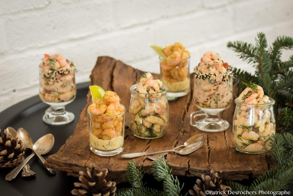 _Photo recette crevettes verrines