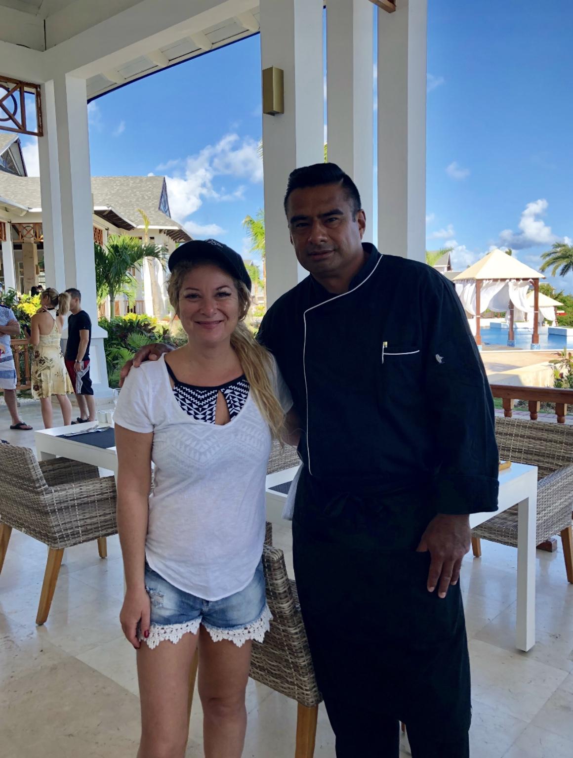 Prise en photo avec le chef exécutif du Royalton Cayo Santa Maria