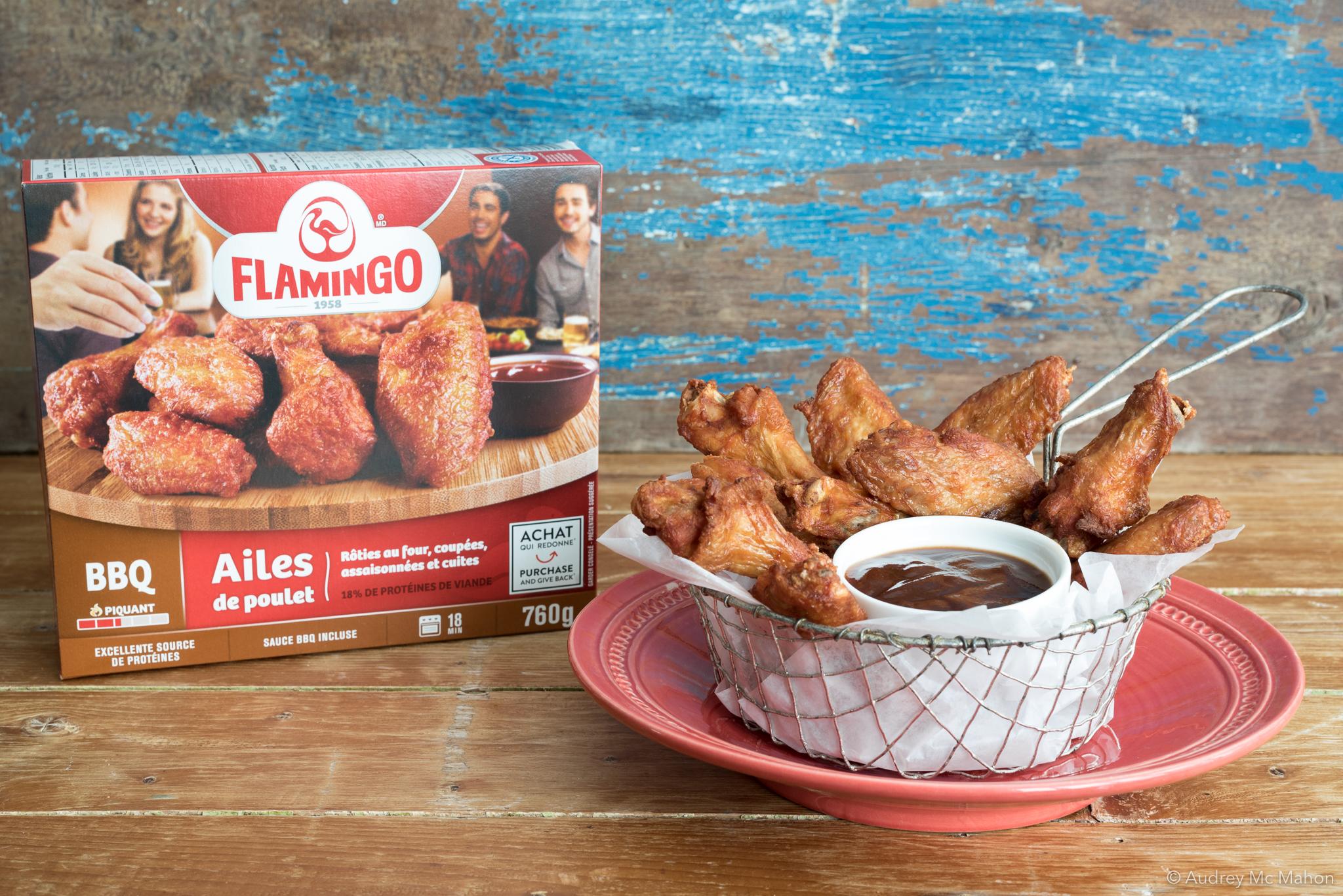 _photo Emballage Ailes de poulet Flamingo