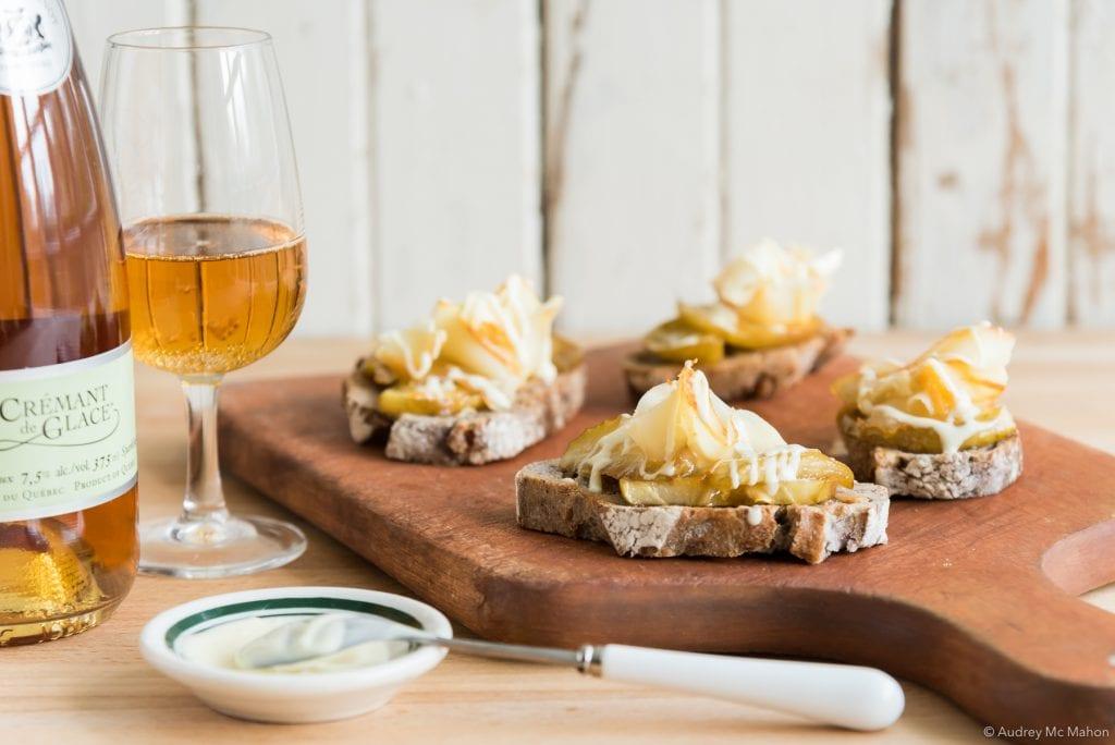Photo Recette Le Mamirolle avec pommes glacées ET AVEC glaze chocolat blanc