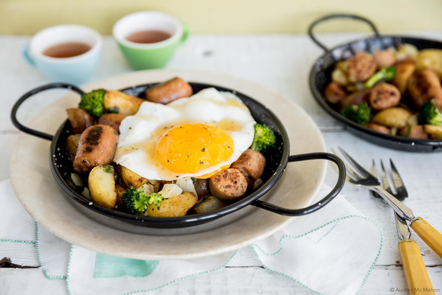 Cassolette déjeuner aux saucisses bacon-érable